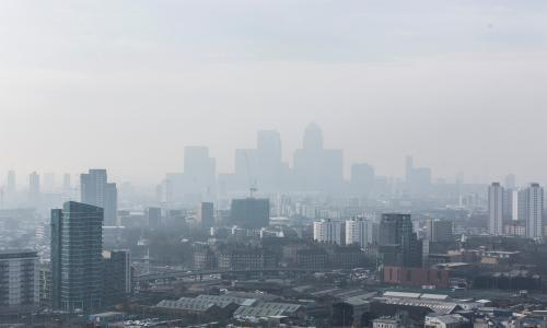 Urban populations in south-east at greatest risk from air pollution
