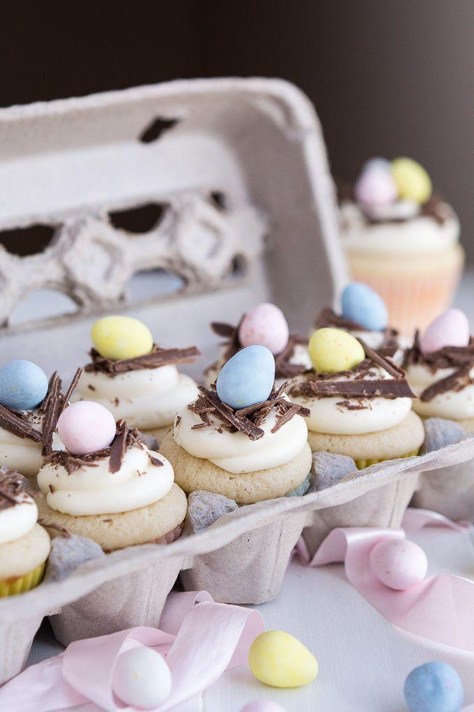 """<p>Easter is the best excuse to top your desserts with even more candy.</p><p><em><a href=""""http://www.garnishandglaze.com/2015/03/09/white-chocolate-easter-egg-cupcakes/"""" rel=""""nofollow noopener"""" target=""""_blank"""" data-ylk=""""slk:Get the recipe from Garnish and Glaze »"""" class=""""link rapid-noclick-resp"""">Get the recipe from Garnish and Glaze »</a></em></p>"""