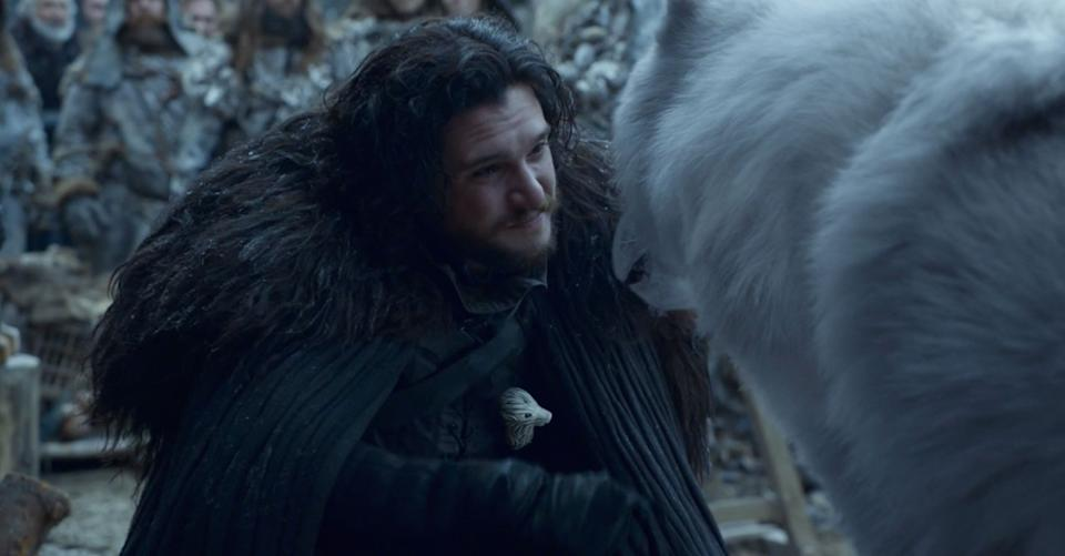 """Things were just a lot simpler when Jon knew nothing. <br /><br /> Jon revealing the truth of his parentage to Daenerys, that his father and mother are really Rhaegar Targaryen and Lyanna Stark, and that he's the heir to the Iron Throne, was one of the catalysts that drove the Mother of Dragons to burn King's Landing. <br /><br /> After he became the Queenslayer, Jon was eventually sent to the Wall as punishment. There, he was reunited with Tormund (Kristofer Hivju) and finally (finally) petted Ghost.<br /> <br /> Tormund seemed to foreshadow this would be the outcome for Jon in Episode 4 when he told him he has the """"real North"""" in him, and Jon talked about wanting to go North with the Wildings. Well, you got your wish, bud. Hope it works out for you. <br /><br /> The final shot is Jon traveling with the Wildlings, possibly going the route of """"Dexter"""" and becoming a lumberjack beyond the Wall."""
