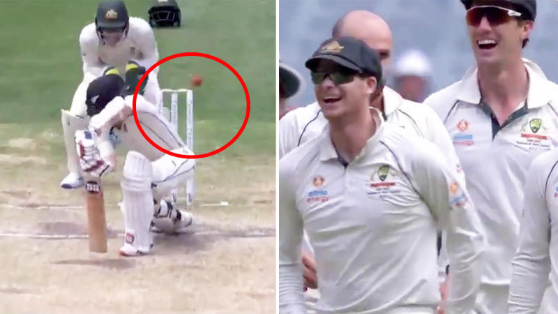 BJ Watling, pictured here after he was caught at leg slip in the Boxing Day Test.