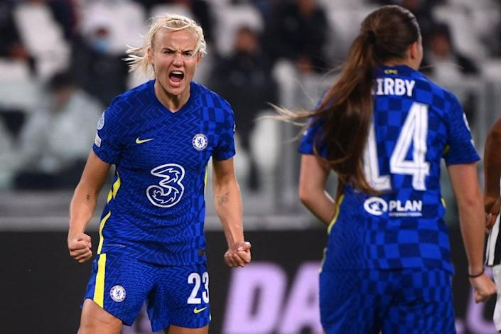 Pernille Harder scored the winner in Turin (AFP via Getty Images)