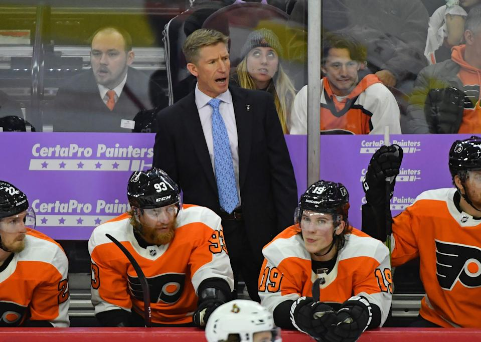 Dave Hakstol coached the Flyers from 2015-19.
