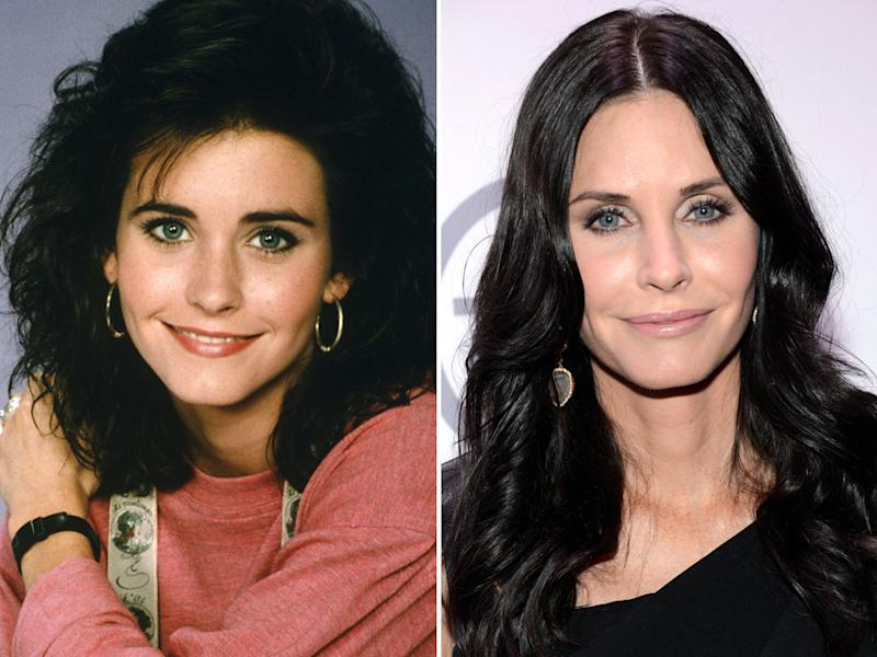 """<b>Courteney Cox (Lauren Miller)</b><br><br>  When Courteney Cox joined the """"Family Ties"""" cast, MTV fans already knew her as the girl Bruce Springsteen pulled onstage in his """"Dancing in the Dark"""" video. She made a big impact as Alex's girlfriend in her 22-episode run on """"Ties,"""" but it would be five more years before she became TV icon Monica Geller on """"Friends."""" <br><br>  While Cox has had success on the big screen in movies, such as """"Ace Ventura: Pet Detective"""" and the """"Scream"""" franchise, TV has always been her forte. In 2007, she produced and starred in the tabloid-themed drama """"Dirt,"""" which was canceled after 20 episodes.  <br><br> In 2009, she launched the sitcom """"Cougar Town,"""" about a group of buddies hanging out on a cul-de-sac. ABC decided to drop the series after a four-year run. But TBS quickly swept in and picked up the show, which is set to debut on the cable channel in 2013. <br><br>  In 1999 Cox married an unlikely match, """"Scream"""" co-star David Arquette. The two had a daughter, Coco, before announcing their split in 2010."""