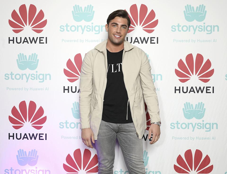 LONDON, ENGLAND - DECEMBER 04:  Jack Fincham attends Winterland, London for the launch of Huawei's StorySign App with the British Deaf Association on December 4, 2018 in London, England.  (Photo by Tristan Fewings/Getty Images for Huawei)