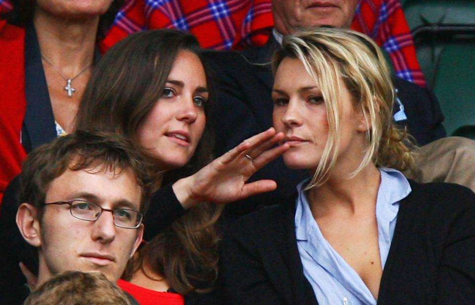 LONDON - JULY 02:  Kate Middleton, girlfriend of Prince William (L) looks on from the crowd during the Men's Singles third round match between Robin Soderling of Sweden and Rafael Nadal of Spain during day seven of the Wimbledon Lawn Tennis Championships at the All England Lawn Tennis and Croquet Club on July 2, 2007 in London, England.  (Photo by Ryan Pierse/Getty Images)
