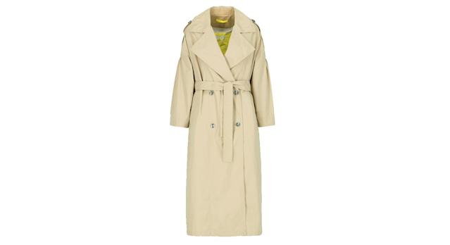 OOF Wear Women's Long Double-breasted Trench Coat