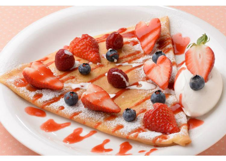 Merci Crepe的「Crepe Berry Fruits」850日圓 (未含稅)