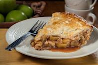 """<p><a href=""""https://www.thedailymeal.com/best-holiday-pies-recipes?referrer=yahoo&category=beauty_food&include_utm=1&utm_medium=referral&utm_source=yahoo&utm_campaign=feed"""" rel=""""nofollow noopener"""" target=""""_blank"""" data-ylk=""""slk:Often thought of for the Thanksgiving table"""" class=""""link rapid-noclick-resp"""">Often thought of for the Thanksgiving table</a>, apple pie is an absolute classic that can (and should!) be served all year long. After all, there's nothing more American than a perfect apple pie.</p> <p><a href=""""https://www.thedailymeal.com/perfect-apple-pie-recipe?referrer=yahoo&category=beauty_food&include_utm=1&utm_medium=referral&utm_source=yahoo&utm_campaign=feed"""" rel=""""nofollow noopener"""" target=""""_blank"""" data-ylk=""""slk:For the Perfect Apple Pie recipe, click here."""" class=""""link rapid-noclick-resp"""">For the Perfect Apple Pie recipe, click here.</a></p>"""