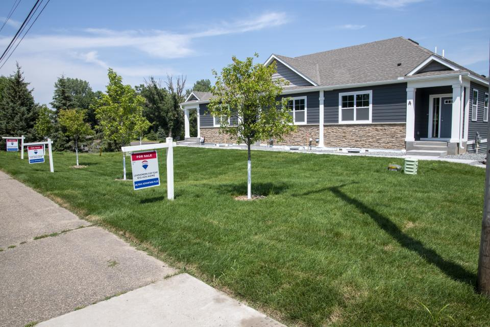 Lexington, Minnesota, Homes for sale, with demand high and supply low, homes are going for more than sellers expect. (Photo by: Michael Siluk/UCG/Universal Images Group via Getty Images)