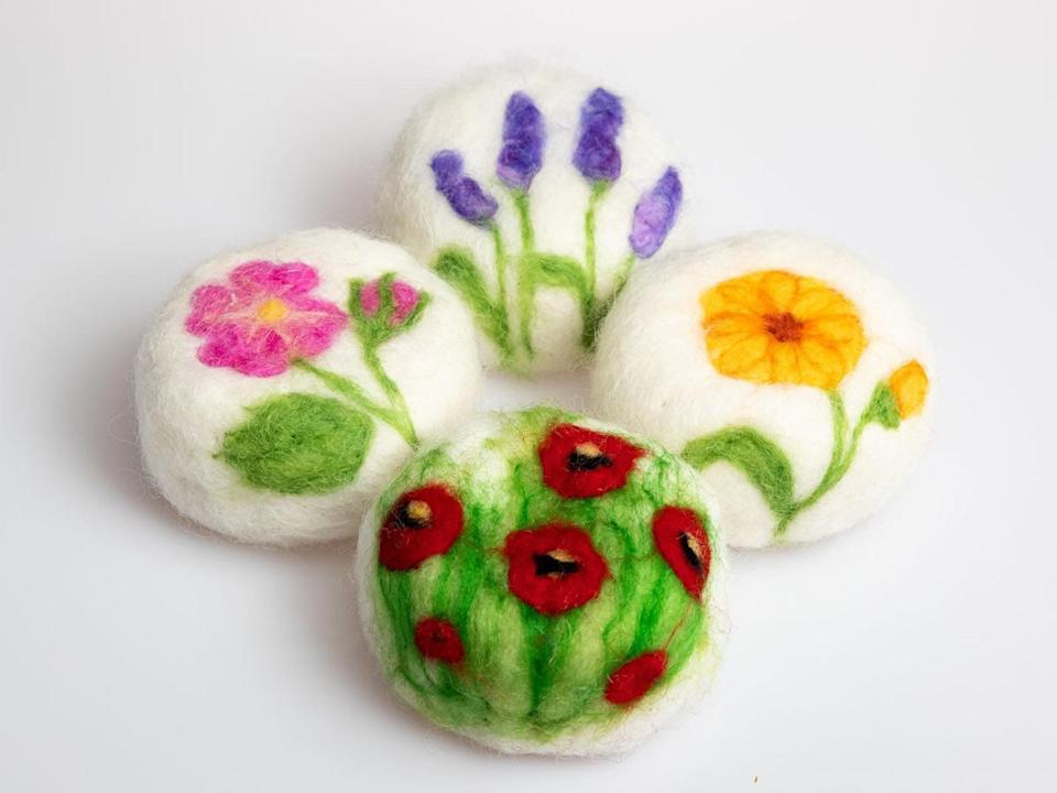 """<h2>Costa Cosmetics Felted Goat's Milk Soap <br></h2><br>Your mother evaluates soap based on two criteria: 1.) scent, and 2.) how it will look positioned in the powder room, perched in her seashell soap dish. Nab a bar that's both perfectly perfumed <em>and </em>aesthetically pleasing, like these needle-felted lavender-scented soaps. <br><br><em>Shop <strong><a href=""""https://www.etsy.com/shop/CostaCosmetics?ref=simple-shop-header-name&listing_id=754309445"""" rel=""""nofollow noopener"""" target=""""_blank"""" data-ylk=""""slk:Costa Cosmetics"""" class=""""link rapid-noclick-resp"""">Costa Cosmetics</a></strong> on Etsy</em><br><br><strong>Costa Cosmetics</strong> Felted Goat's Milk Soap (Single), $, available at <a href=""""https://go.skimresources.com/?id=30283X879131&url=https%3A%2F%2Fwww.etsy.com%2Flisting%2F754309445%2Fflowers-felted-soaps-goat-milk-soap-with"""" rel=""""nofollow noopener"""" target=""""_blank"""" data-ylk=""""slk:Etsy"""" class=""""link rapid-noclick-resp"""">Etsy</a>"""