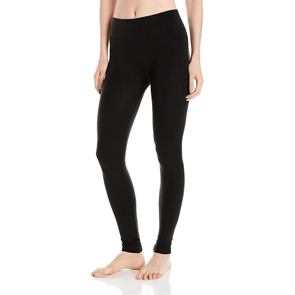 """<p>Crowned """"the best leggings ever"""" by Amazon shoppers, this high-waisted style is a bit more dressed up than other options thanks to their seamless design and smooth finish. Perfect for running errands, casual events, and everyday wear, these are great for life beyond the gym (though they work for outdoor winter hikes and walks, too). </p> <p><strong>To buy:</strong> From $29; <a href=""""https://www.amazon.com/HUE-Womens-Brushed-Seamless-Leggings/dp/B06XH6FGQ3/ref=as_li_ss_tl?ie=UTF8&linkCode=ll1&tag=rsfasfleeceleggingsamazonjmattern0119-20&linkId=5441c5ff2d06fb2f2ae908300cb83beb"""">amazon.com</a>.</p>"""