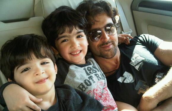 Hrithik Roshan<br><br>He married his childhood sweetheart, Suzanne Roshan, daughter of actor Sanjay Khan. He has two sons, Hrehaan and Hridhaan. These two are the cutest starkids ever, having inherited the heavenly genes from their parents. They are the apple of Hrithik's eye as is evident from all the pictures he keeps posting on Twitter. Quite a loving father that!