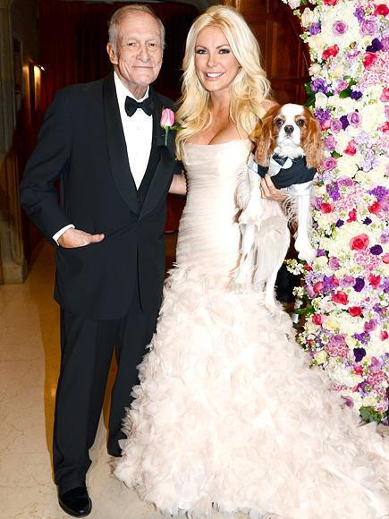 "Happily Wed""Crystal is one in a million,"" says Hef of his 29-year-old wife (pictured on their 2012 wedding day). ""I don't think about the age difference. We're very happy."""