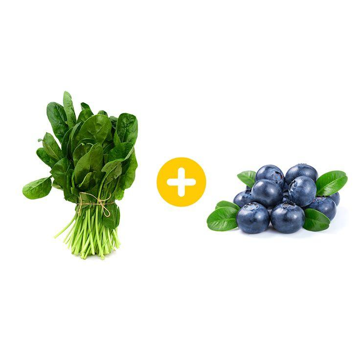"""<p>Whip up a smoothie with spinach and blueberries and drink it before and after your <a href=""""https://www.prevention.com/fitness/workouts/g27667203/best-triceps-exercises/"""" target=""""_blank"""">workout</a>. In one study, athletes who ate blueberries every day for 6 weeks reduced post-workout inflammation, while other research shows spinach can improve breathing and the flow of oxygen during a workout. The nitrate present in spinach helps muscles work more efficiently during exercise, while blueberries help decrease muscle soreness after exercise. Bring on the <a href=""""https://www.prevention.com/weight-loss/g20430598/smoothie-causing-weight-gain/"""" target=""""_blank"""">smoothie</a>!</p>"""