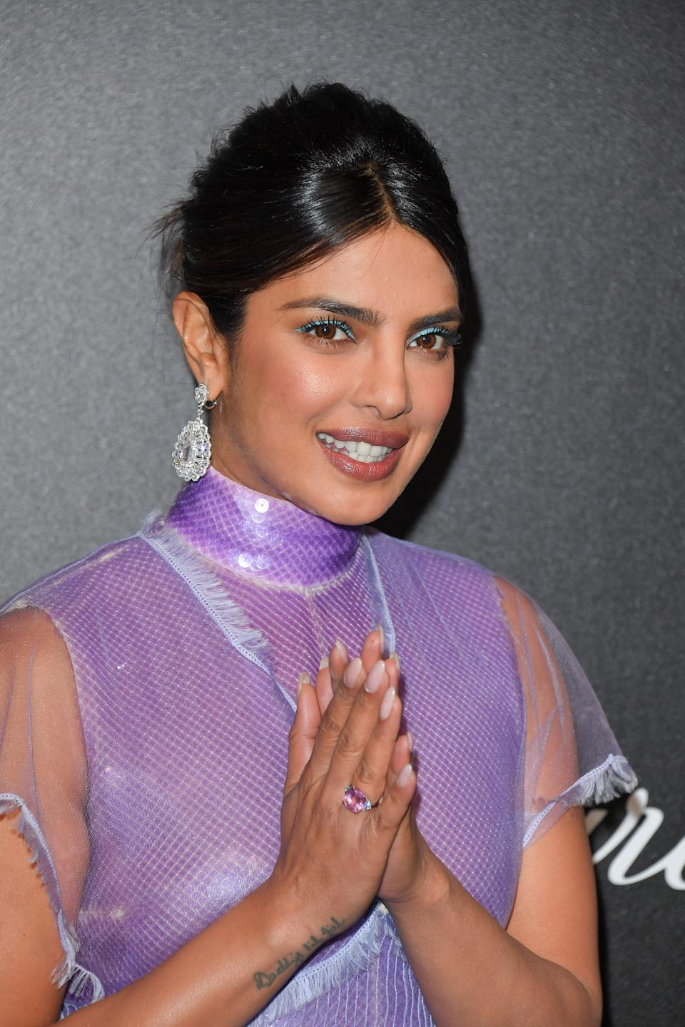 CANNES, FRANCE - MAY 17: Priyanka Chopra attends the Chopard Party during the 72nd annual Cannes Film Festival on May 17, 2019 in Cannes, France. (Photo by George Pimentel/WireImage)