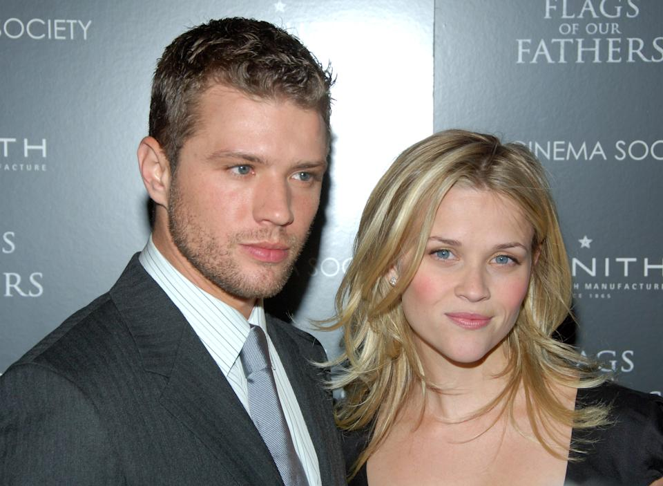 Witherspoon's first two children - Ava and Deacon - are with ex-husband, Ryan Phillipe. (Getty Images)
