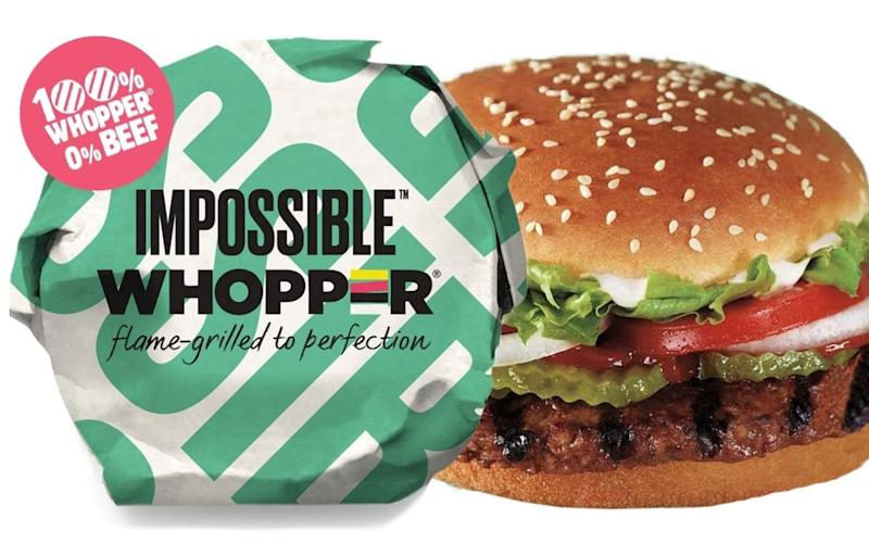 Impossible Foods meatless Whopper