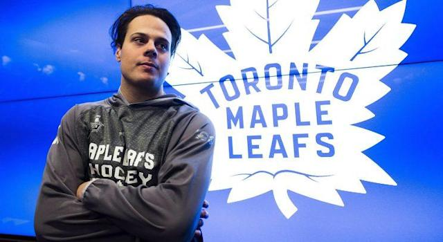 "Toronto Maple Leafs centre <a class=""link rapid-noclick-resp"" href=""/nhl/players/7109/"" data-ylk=""slk:Auston Matthews"">Auston Matthews</a> will be sporting a slightly different look next year. (Nathan Denette/CP)"