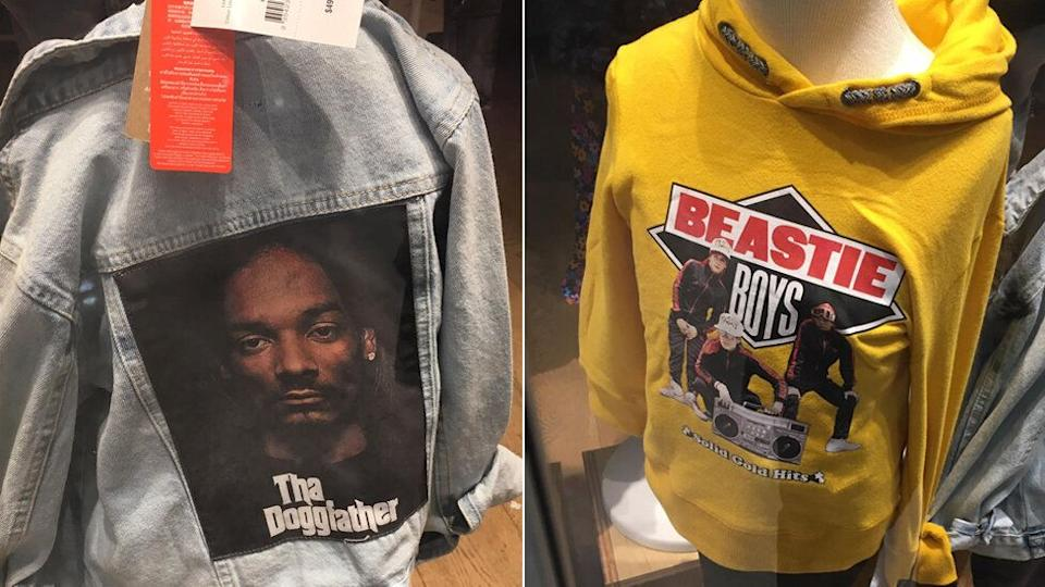 These Snoop Dog and the Beastie Boys tops are just part of the 'May range' at Cotton On kids. Source: Supplied