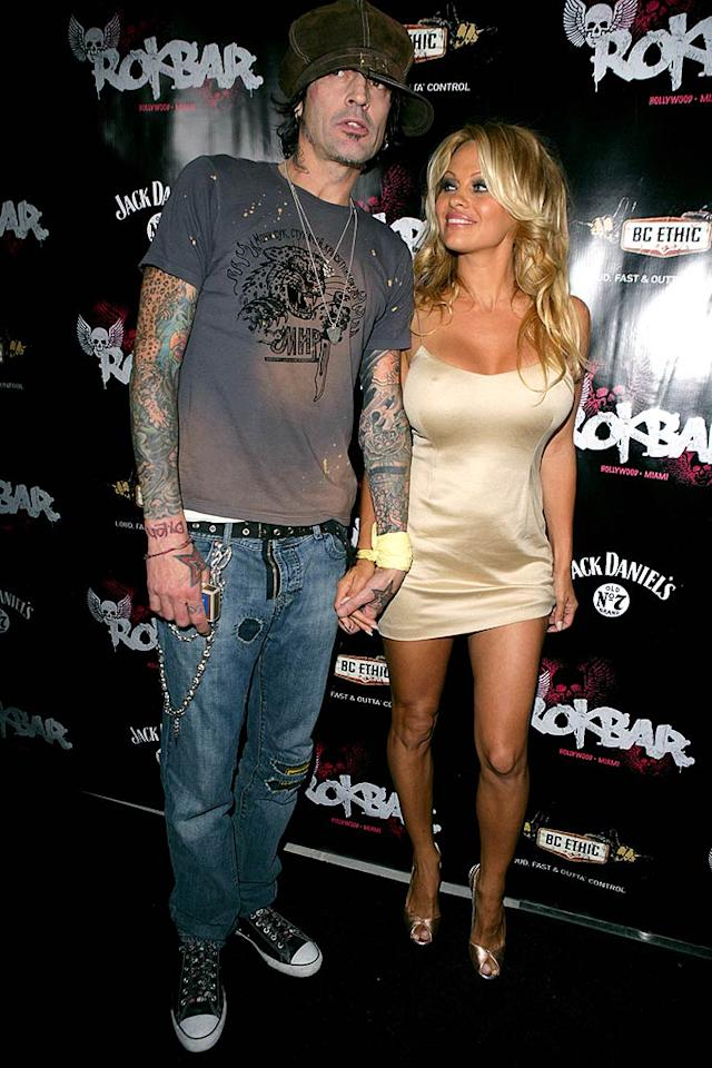 "Tommy Lee and Pamela Anderson were married in 1995 after only knowing each other for 96 hours. In the 13 years since then, they've divorced twice and reconciled twice. Luckily, the former home video stars remain pals as they continue to raise their two sons, Brandon (12) and Dylan (11). Todd Williamson/<a href=""http://www.filmmagic.com/"" target=""new"">FilmMagic.com</a> - June 30, 2005"