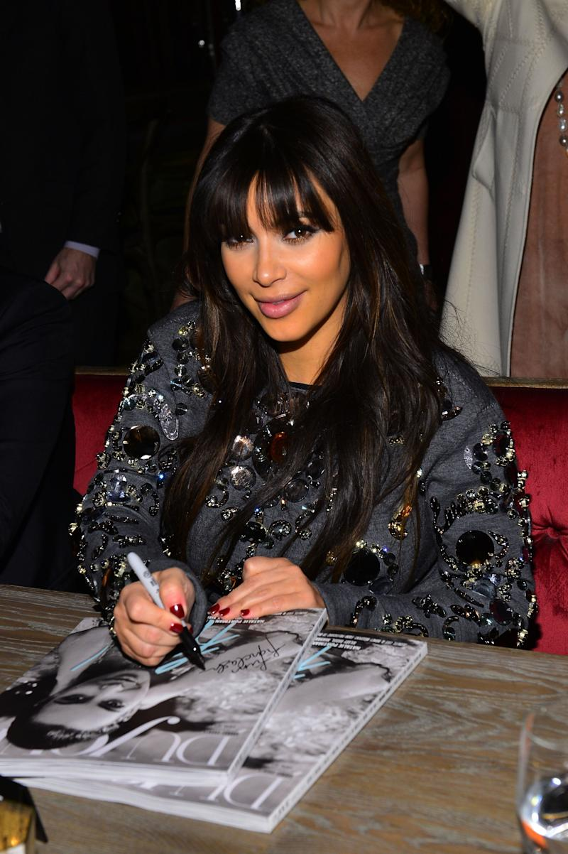 NEW YORK, NY - MARCH 27: (EXCLUSIVE COVERAGE) Kim Kardashian attends the DuJour Magazine Spring 2013 Issue Celebration at The Darby on March 27, 2013 in New York City. (Photo by Larry Busacca/Getty Images for DuJour)