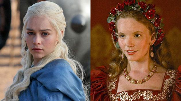 """Game of Thrones"" Emilia Clarke and Tamzin Merchant"