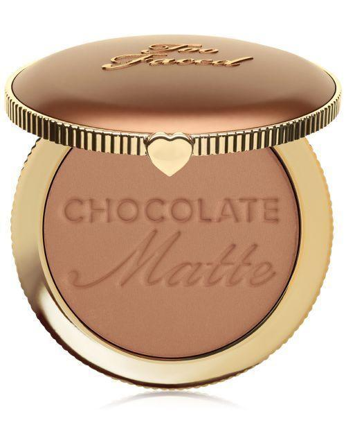 """<p><strong>Too Faced</strong></p><p>macys.com</p><p><strong>$32.00</strong></p><p><a href=""""https://go.redirectingat.com?id=74968X1596630&url=https%3A%2F%2Fwww.macys.com%2Fshop%2Fproduct%2Ftoo-faced-chocolate-soleil-bronzer%3FID%3D6072432&sref=https%3A%2F%2Fwww.goodhousekeeping.com%2Fbeauty-products%2Fg36020083%2Fbest-bronzer-for-dark-skin%2F"""" rel=""""nofollow noopener"""" target=""""_blank"""" data-ylk=""""slk:Shop Now"""" class=""""link rapid-noclick-resp"""">Shop Now</a></p><p>This Too Faced matte bronzer will give your face slight definition, and the light chocolate color is the best for medium warm skin. It holds up well throughout the day and is <strong>perfect for creating a natural contour</strong>. True to its name, it also smells like chocolate.</p>"""