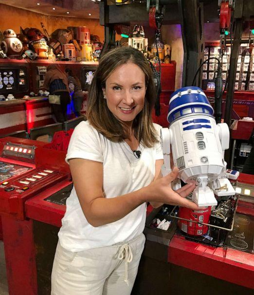 PHOTO: GMA built a droid at the Droid Depot at the brand-new Star Wars Galaxy's Edge. (Genevieve Brown/ABC News)