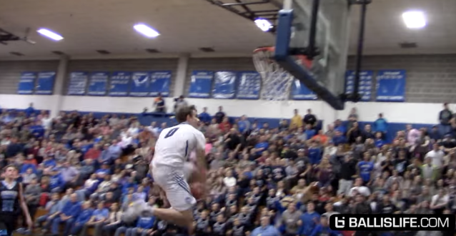Mac McClung, known for his splashy dunks, broke Allen Iverson's high school scoring record. (YouTube/Ballislife screen shot)