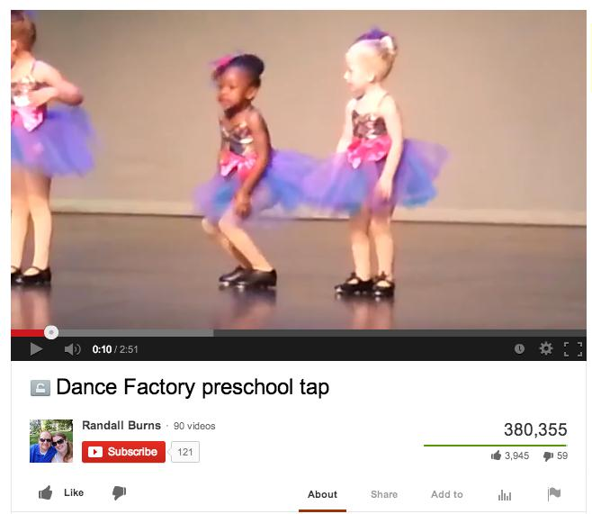 Girl Adorably Makes Up Own Tap Dance to 'Broadway Baby'