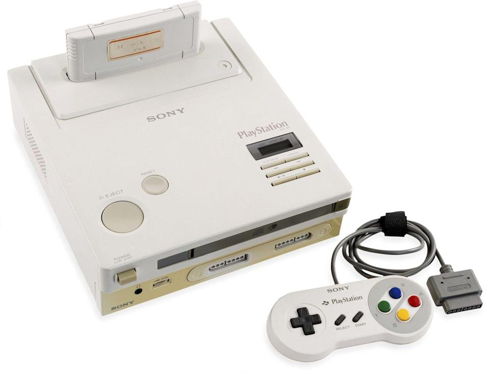 <p>Video game consoles from the 1980s are nabbing big dollars, especially when they're unused and/or a rare edition. The Nintendo PlayStation prototype shown here sold at auction in March 2020 for a whopping $360K. Individual video games—while available at every price point—can bring more than $20,000. </p><p><strong>What it's worth:</strong> $20 to $360,000</p>