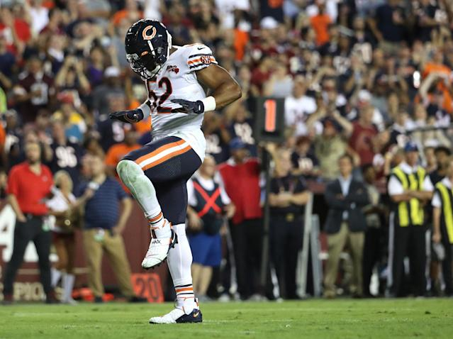 Chicago Bears linebacker Khalil Mack is looking forward to facing his former team, the Oakland Raiders. (Getty Images)