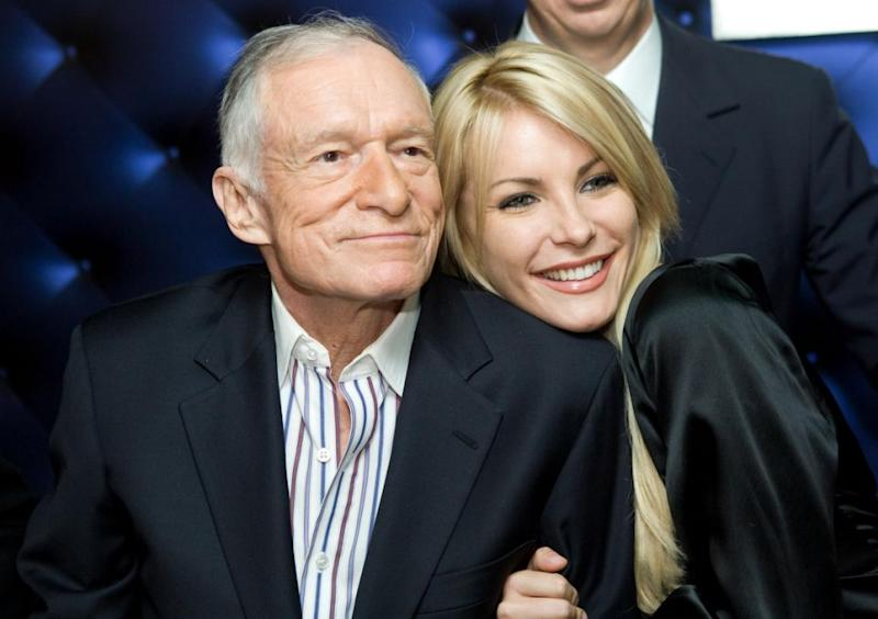 The pair met in 2009 when Crystal graced the cover of Playboy. Source: Getty
