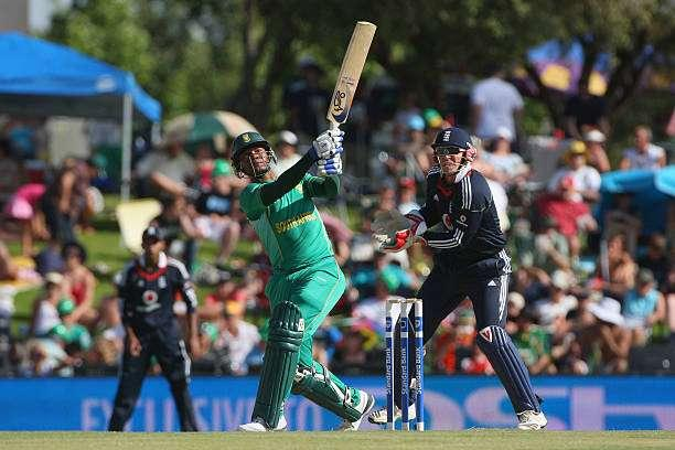 CENTURION, SOUTH AFRICA - NOVEMBER 15: Loots Bosman of South Africa hits out during the Twenty20 International match between South Africa and England at Supersport Park on November 15, 2009 in Centurion, South Africa. (Photo by Tom Shaw/Getty Images)