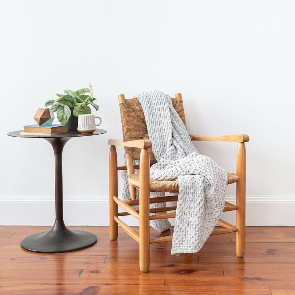 "<h2>Tuft And Needle Recycled Yarn Throw Blanket</h2><br>Let's call this: the most beloved eco blanket on the internet. This blanket is made from upcycled materials, so it's both cozy and sustainable. <br><br><strong>Comfort Critics Say:</strong> ""I have had this quilt for over a year and I love it just as much now as I did when I first bought it! The quality is so nice, it feels so soft to the touch and it's just enough to take off the chill when our ceiling fan is on."" - <em>Rhondasal</em><br><br><strong><em><a href=""https://www.brooklinen.com/search?type=product&q=throw"" rel=""nofollow noopener"" target=""_blank"" data-ylk=""slk:Shop Tuft And Needle"" class=""link rapid-noclick-resp"">Shop Tuft And Needle</a></em></strong><br><br><strong>Tuft And Needle</strong> Recycled Yarn Throw Blanket, $, available at <a href=""https://go.skimresources.com/?id=30283X879131&url=https%3A%2F%2Fwww.tuftandneedle.com%2Fthrow-blanket"" rel=""nofollow noopener"" target=""_blank"" data-ylk=""slk:Tuft And Needle"" class=""link rapid-noclick-resp"">Tuft And Needle</a>"