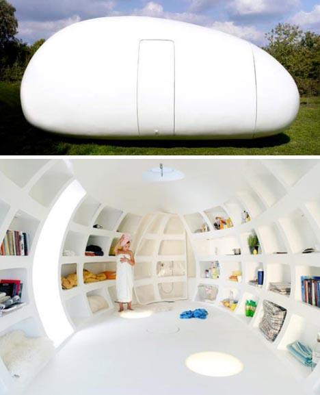 """<div class=""""caption-credit""""> Photo by: Dornob</div><div class=""""caption-title"""">Sleeping in an Egg</div>Get a closer look into what it would be like to live inside an egg. <br>"""
