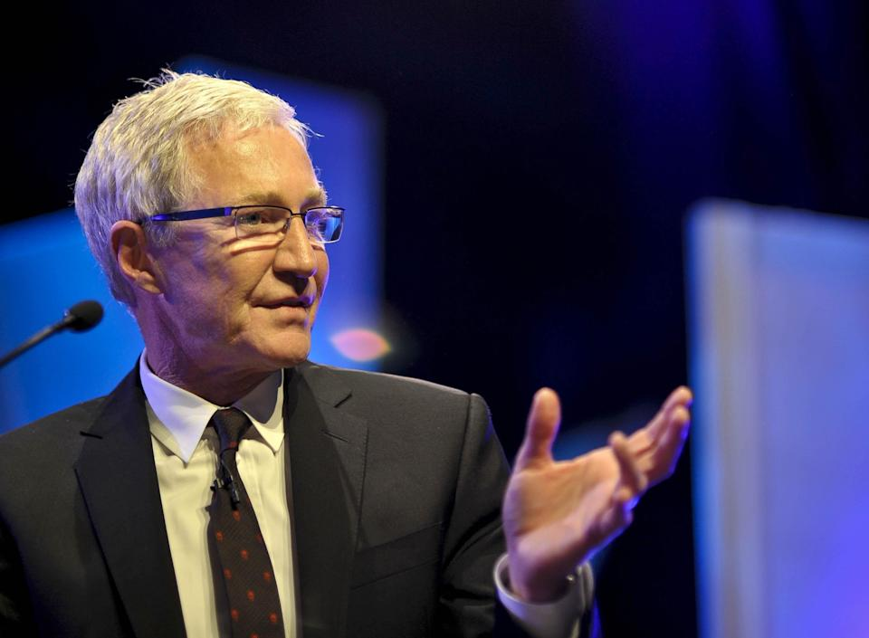 ALTERNATIVE CROP Paul O'Grady on stage at the Hay Festival in Hay-on-Wye, Powys. (Photo by Ben Birchall/PA Images via Getty Images)