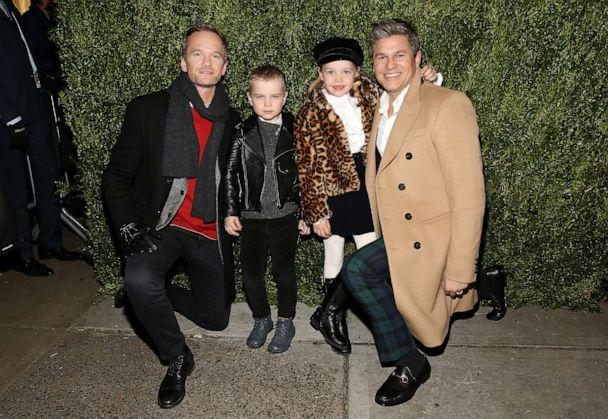 PHOTO: Actor Neil Patrick Harris, Gideon Scott Burtka-Harris, Harper Grace Burtka-Harris, and actor David Burtka attend the 2017 Saks Fifth Avenue Holiday Window Unveiling at Saks Fifth Avenue on Nov. 20, 2017, in New York. (Monica Schipper/Getty Images, FILE)