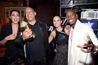 <p>Just months after welcoming her second daughter, Gadot joined her Fast and the Furious franchise co-stars Diesel, Jordana Brewster, and Tyrese Gibson to accept the MTV Generation Award on May 7, 2017. (Photo: Kevin Mazur/WireImage) </p>