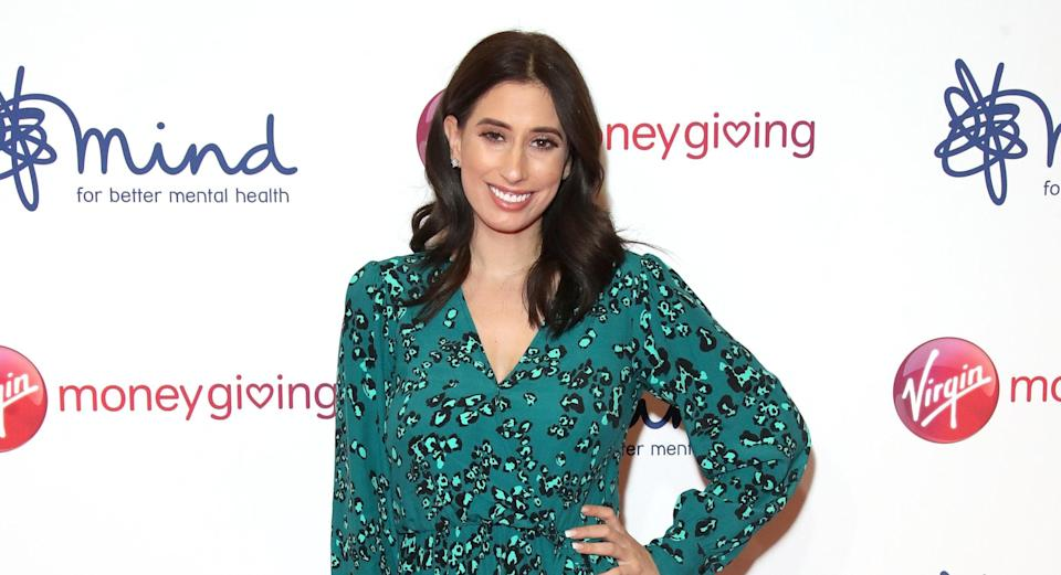 Stacey Solomon has revealed pregnancy belly hair [Image: Getty]