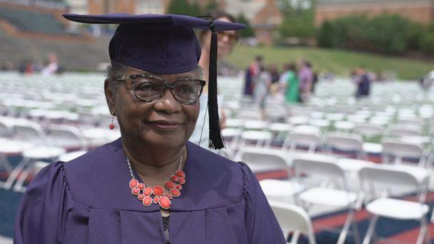 PHOTO: Vivian Cunningham graduated from Samford University in Birmingham, Alabama, at the age of 78.  (ABC)