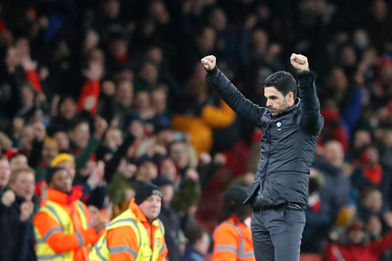Arteta was pleased to see his side improve after the break Photo: AP