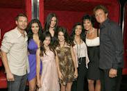 <p>At the 2007 premiere of the series, we first get a glimpse of the family's style. Kim wore a purple minidress with a plunging neckline while Kourtney and Khloé opted for black and white looks. Let's not also forget to mention a little Kendall and Kylie who wore adorable minidresses as well.</p>