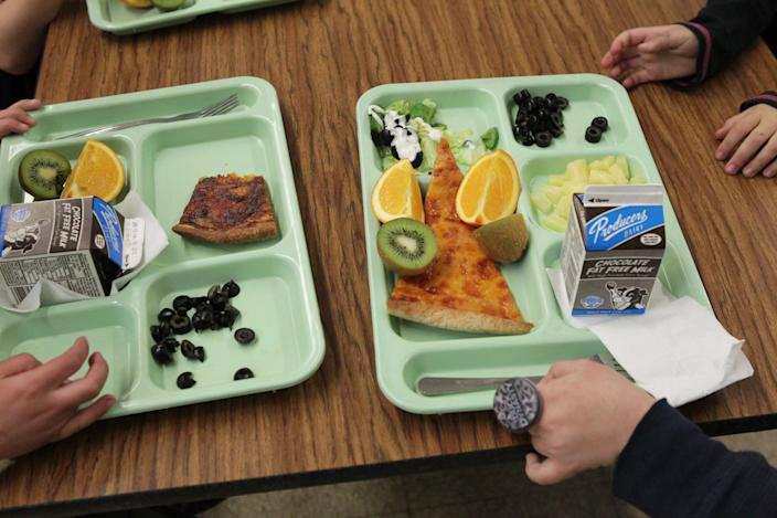 Some schools that have reopened are offering fewer meal choices at lunch. Buffets are also out, in favor of pre-packaged meals that can be made more safely and minimize the risk of infection because not a lot of people touch them.