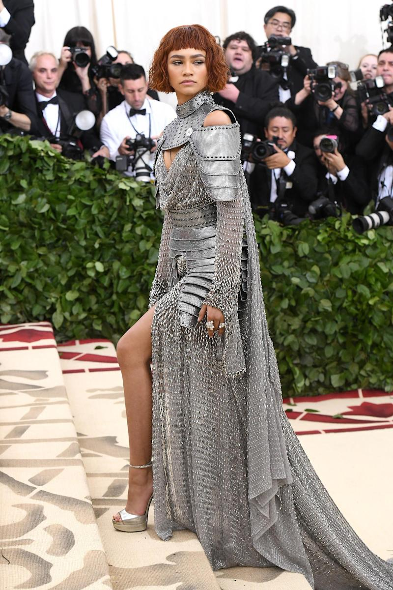 Zendaya wearing custom Versace at the Met Gala (Getty Images for New York Magazi)