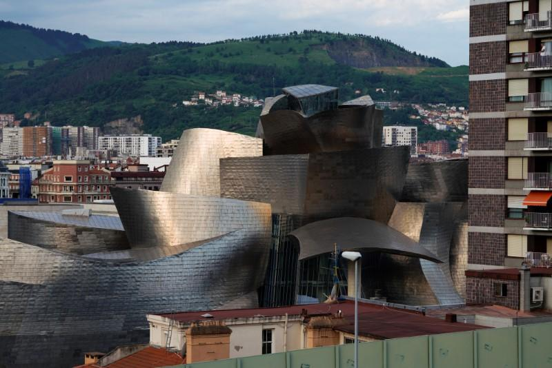 General view of the Guggenheim Museum on the day it reopens its doors following a three-month closure, amid the coronavirus disease (COVID-19) outbreak, in Bilbao