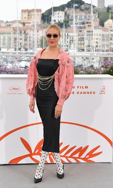 US actress Chloe Sevigny cemented her avant guarde cred by supporting the cutting-edge Parisian designer Marine Serre (AFP Photo/Alberto PIZZOLI)