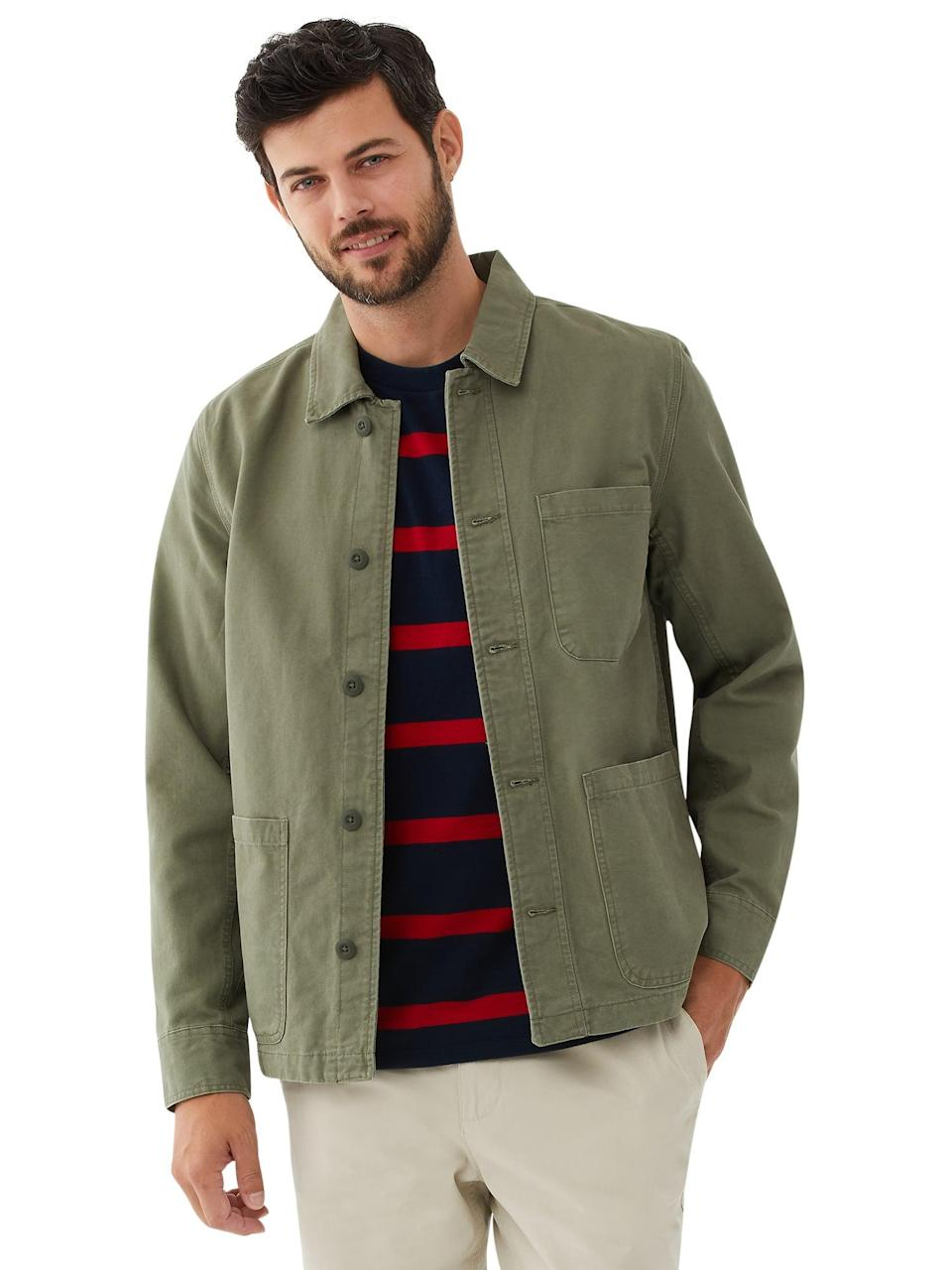 <p>The <span>Free Assembly Men's Chore Jacket </span>($30) is a great layering piece that's bound to become a staple in his wardrobe.</p>