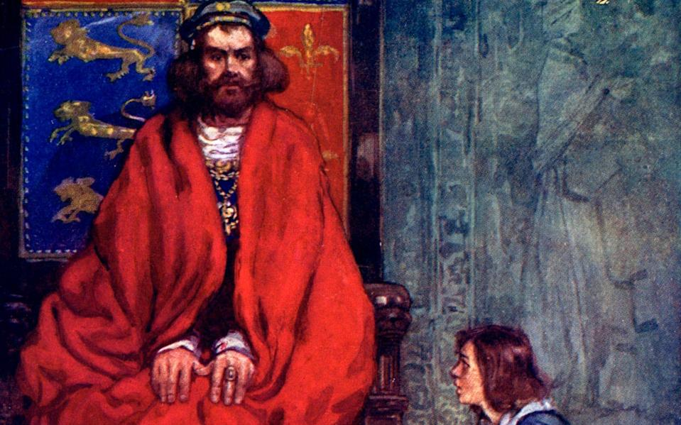 King Henry I learns of the death of his son and heir, William the Aetheling, who was killed when the 'White Ship' was wrecked in 1120. - Hulton Archive