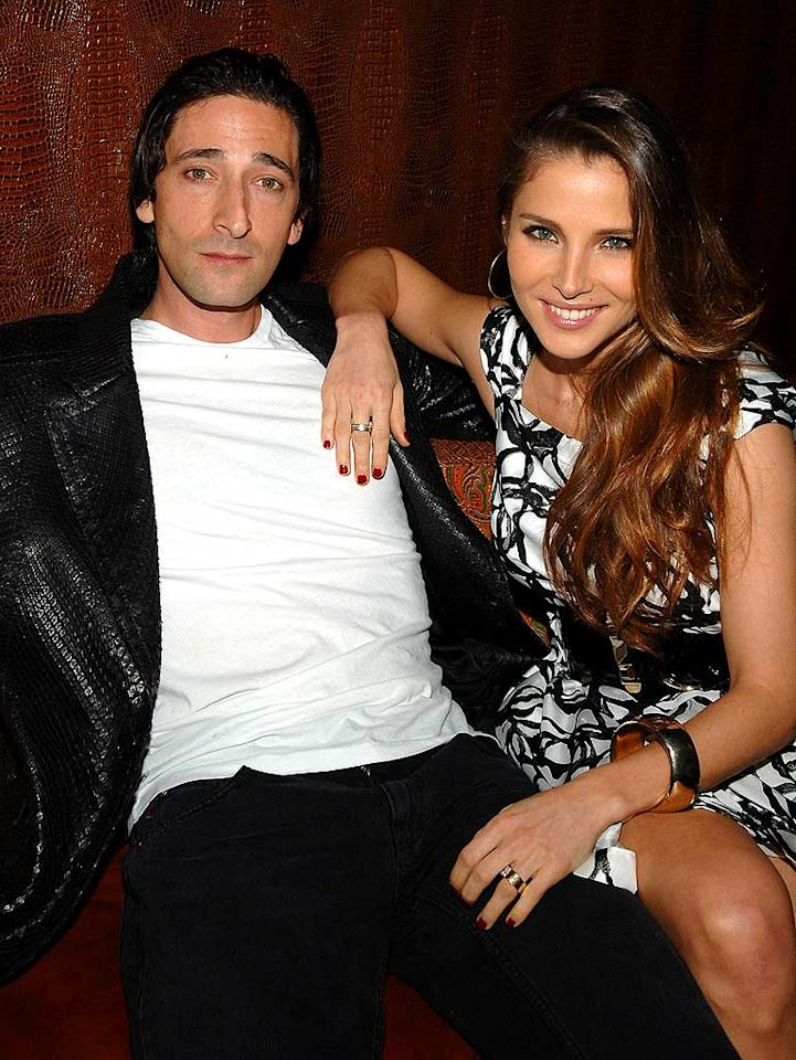 "Oscar winner Adrien Brody and his Spanish model gal pal, Elsa Pataky, chill out at the star-studded event hosted by the publishing conglomerate. Jamie McCarthy/<a href=""http://www.wireimage.com"" target=""new"">WireImage.com</a> - April 17, 2008"